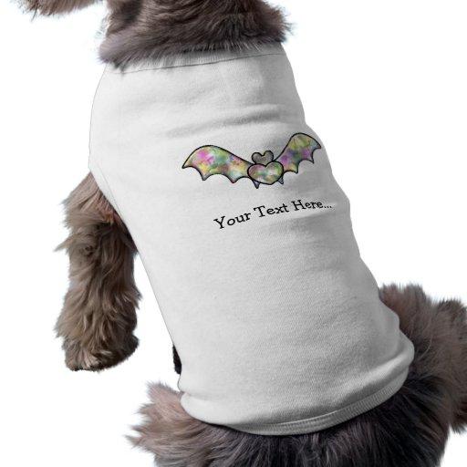 Palo negro personalizado con el corazón camiseta de mascota