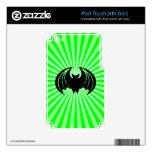 Palo negro; verde calcomanías para iPod touch 4G