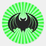 Palo negro; verde pegatinas