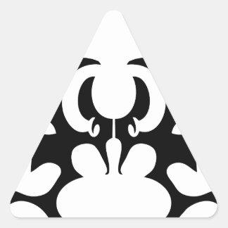 palo pegatina triangular