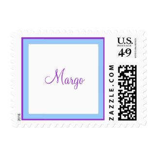 Palo púrpura azul Mitzvah Quinceanera del dulce 16 Sellos