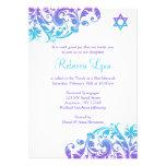 Palo púrpura elegante Mitzvah del Flourish del tru Invitaciones Personales