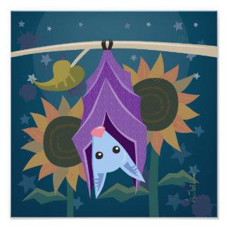 Palo púrpura en la impresión del arte del cuadrado cojinete