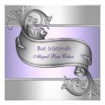 Palo púrpura Mitzvah de la lavanda elegante Comunicado Personal