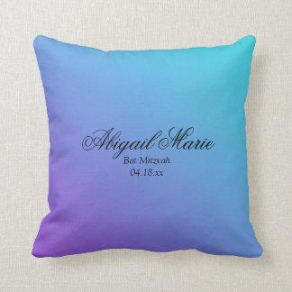Palo púrpura Mitzvah del trullo personalizado Cojín