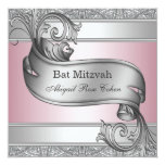 Palo rosado de plata Mitzvah Anuncio