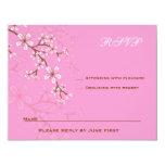 Palo rosado Mitzvah RSVP de los flores de Gabriela Comunicados Personales