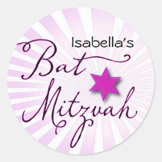 Palo rosado y púrpura Mitzvah del starburst Etiquetas