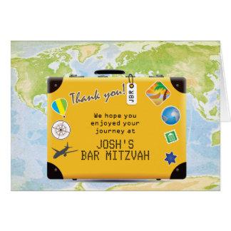 Palo temático Mitzvah de la barra del World Travel Tarjeta Pequeña