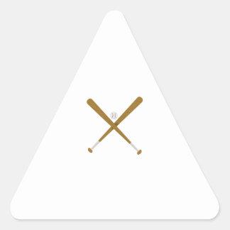 Palo y bola cruzados pegatina triangular
