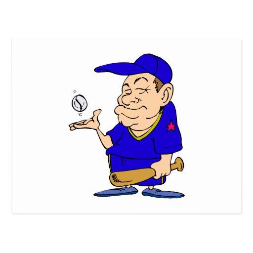 Palo y bola del hombre postal