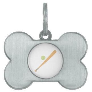 Palo y bola placas de nombre de mascota