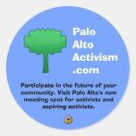 PaloAltoActivism.com Etiquetas Redondas