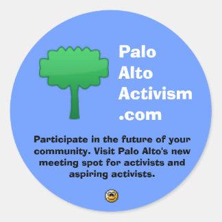 PaloAltoActivism.com Pegatina Redonda