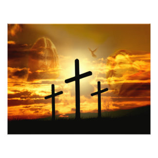 "Paloma bendecida Jesucristo Calvery del Virgen Folleto 8.5"" X 11"""