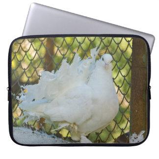 Paloma blanca de la cola de milano funda ordendadores