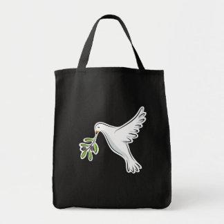 Paloma blanca de la paz bolsa