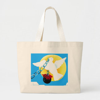 Paloma blanca de la paz, de Sun amarillo, de la pa Bolsas De Mano