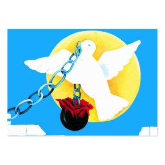 Paloma blanca de la paz, de Sun amarillo, de la Tarjetas De Visita Grandes