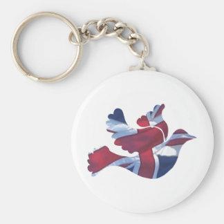 Paloma británica de la bandera llavero personalizado