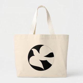 Paloma circular de la paz bolsa de mano