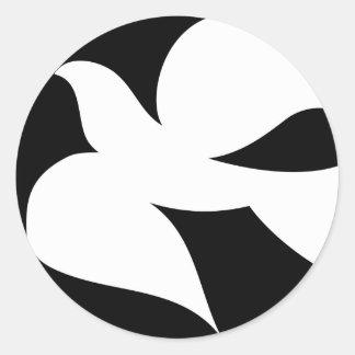 Paloma circular de la paz etiqueta