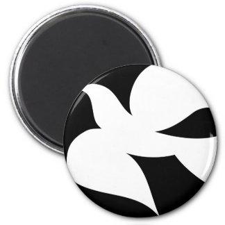 Paloma circular de la paz imán redondo 5 cm