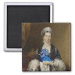 Paloma coronada Victoria de la reina Imán De Nevera