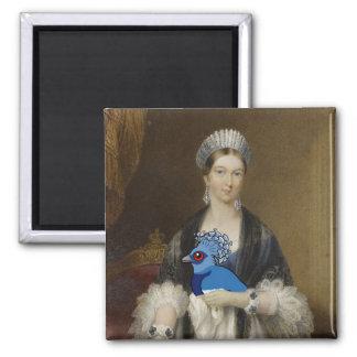 Paloma coronada Victoria de la reina Imán Cuadrado