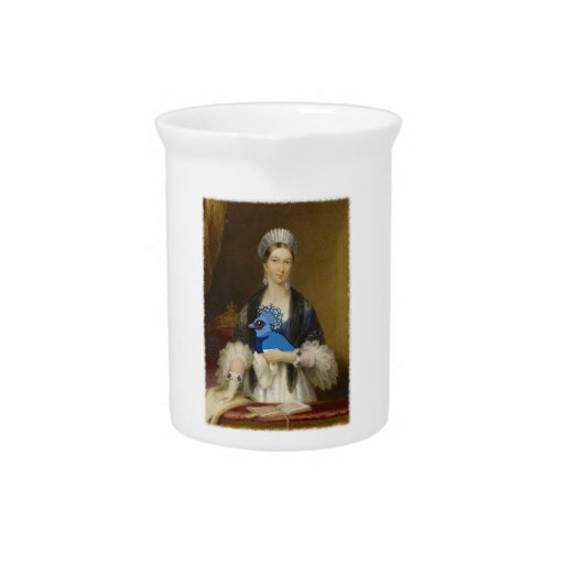 Paloma coronada Victoria de la reina Jarra Para Bebida