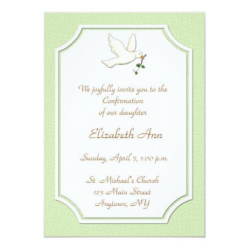 Paloma cristiana, invitación verde