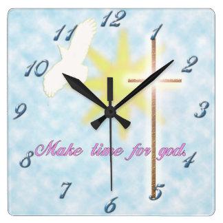 paloma cristiana reloj de pared