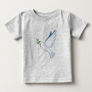 Paloma de la camiseta del bebé de la paz playeras