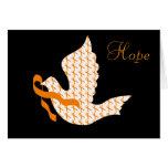 Paloma de la cinta anaranjada de la esperanza - le tarjeta