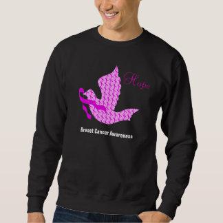 Paloma de la cinta del rosa de la esperanza - sudadera con capucha