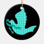 Paloma de la cinta del trullo de la esperanza - cá ornamento para arbol de navidad
