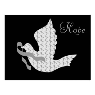 Paloma de la cinta gris de la esperanza - diabetes tarjetas postales
