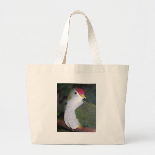 paloma de la fruta bolsas lienzo
