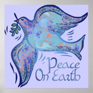Paloma de la impresión del día de fiesta de la paz posters