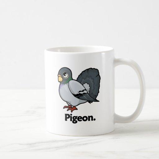 Paloma de la paloma tazas de café