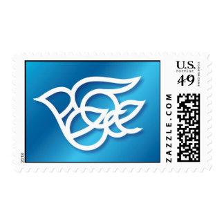 Paloma de la paz - azul sellos