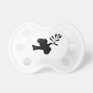 Paloma de la paz chupetes de bebé
