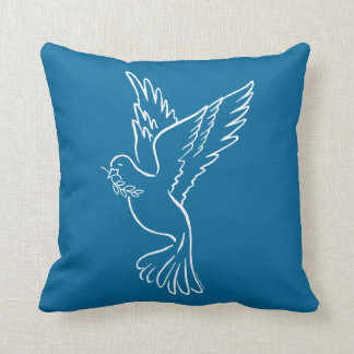 Paloma de la paz cojin