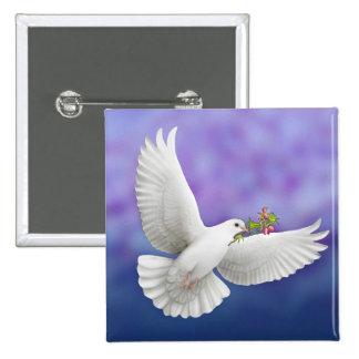 Paloma de la paz del vuelo pin
