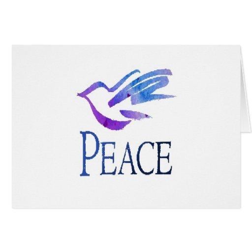 Paloma de la paz felicitacion
