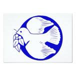 Paloma de la paz invitación 12,7 x 17,8 cm