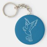 Paloma de la paz llaveros personalizados