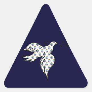 Paloma de la paz calcomanía de triangulo personalizadas