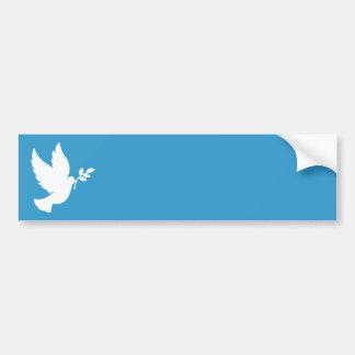 Paloma de la paz pegatina para auto