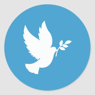 Paloma de la paz pegatina redonda